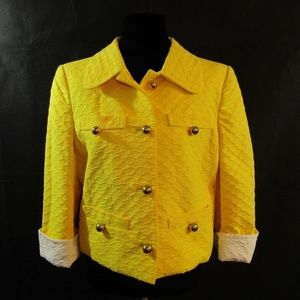 COUTURE COUTURE LOS ANGELES Yellow Crop Coat